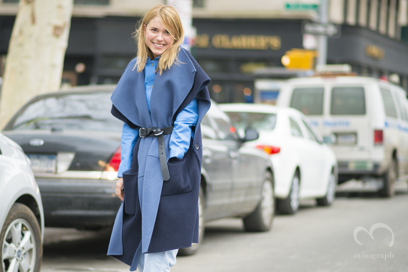 Blogger of Look De Pernille Pernille Teisbaek at New York Fashion Week 2015-2016 Fall Winter NYFW