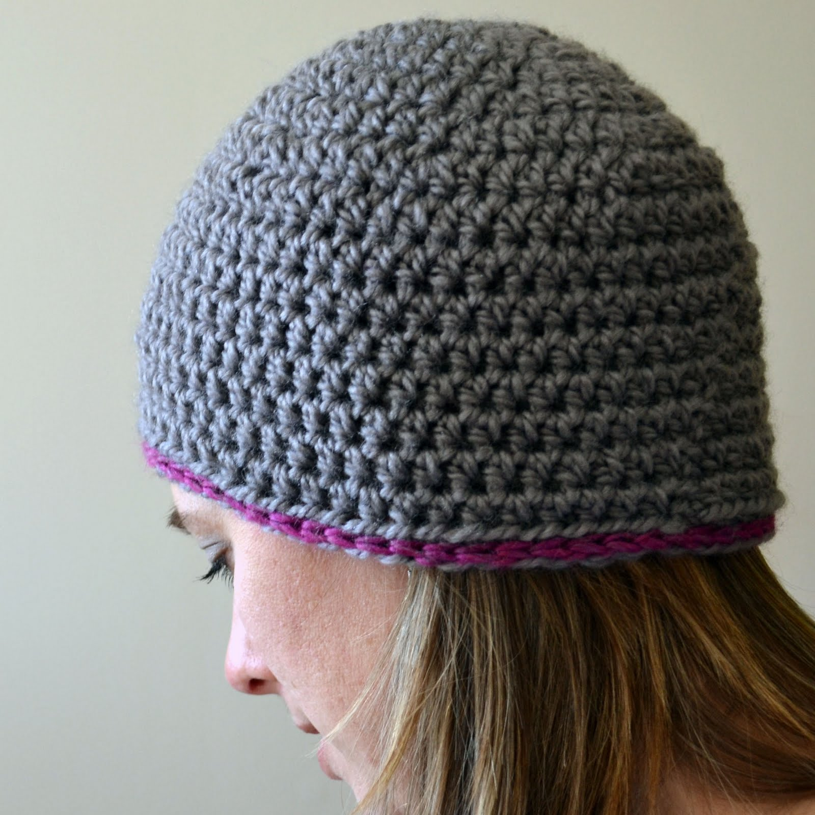 Free Knitting Pattern Beanie Easy : Crochet in Color: Chunky Beanie Pattern