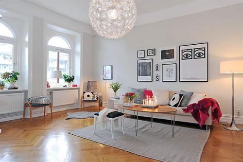 desain ruang tamu terbuka