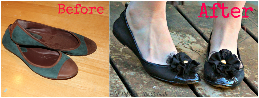 life on the divide how to paint suede shoes an easy shoe refashion. Black Bedroom Furniture Sets. Home Design Ideas