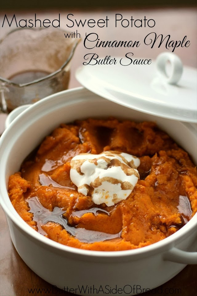 Sweet Potatoes with Cinnamon Maple Butter Sauce
