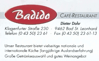 CAFE RESTAURANT BADIDO