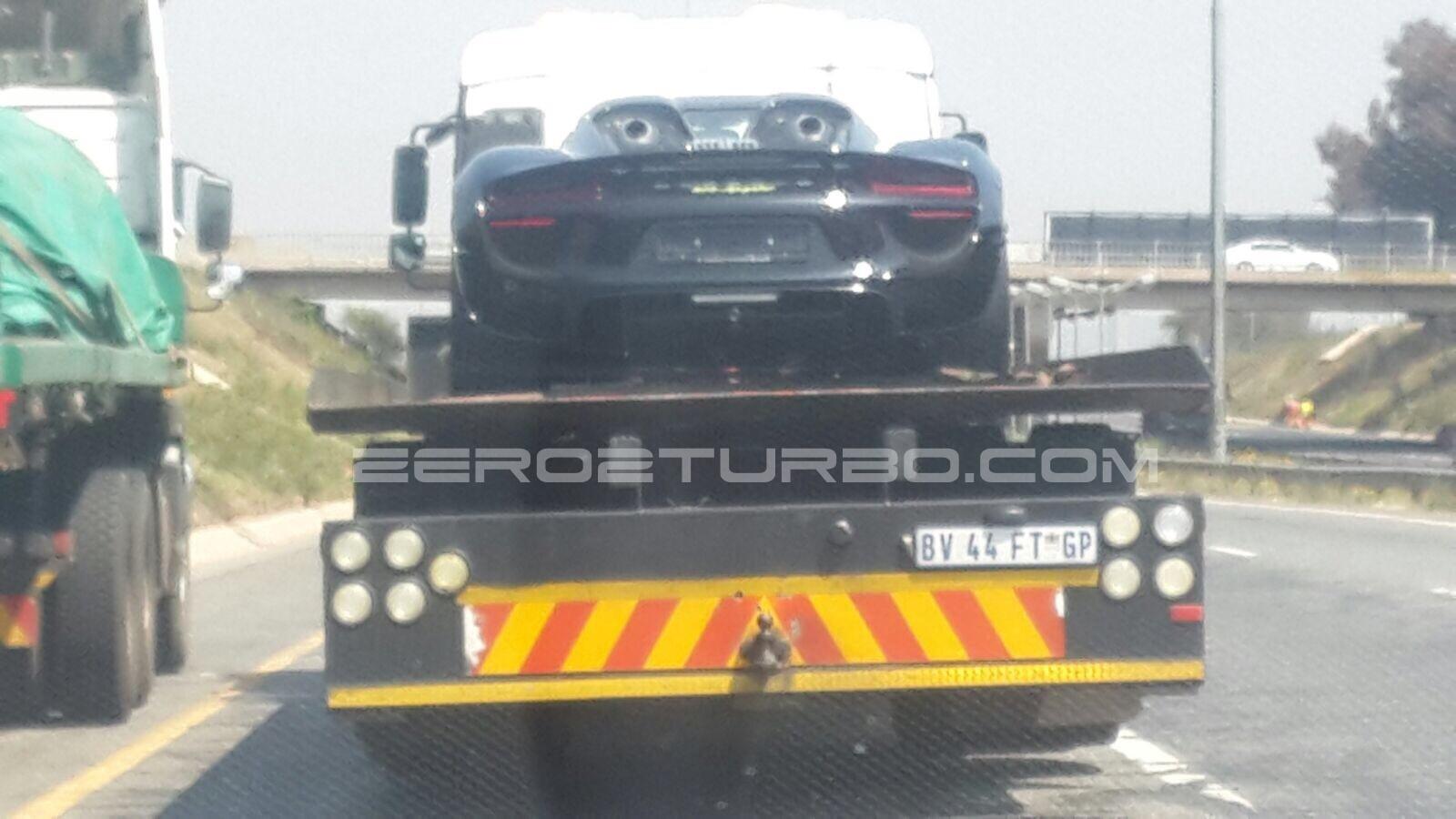 new black porsche 918 spyder arrives in south africa. Black Bedroom Furniture Sets. Home Design Ideas