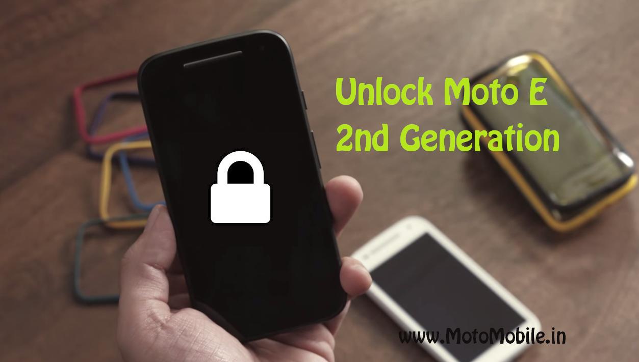 Unlock Moto E 2nd Generation