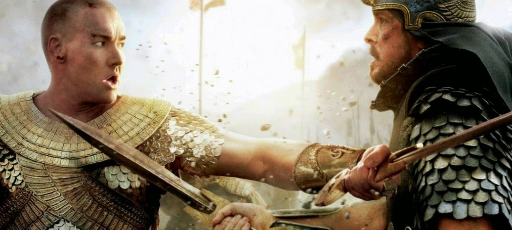 Christian Bale e Joel Edgerton se enfrentam nos pôsteres do épico bíblico Êxodo: Deuses e Reis