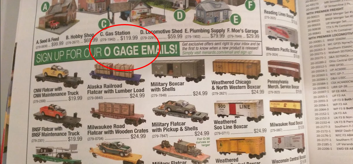 menards o gage advertisement in classic toy trains magazine - Menards Halloween Decorations