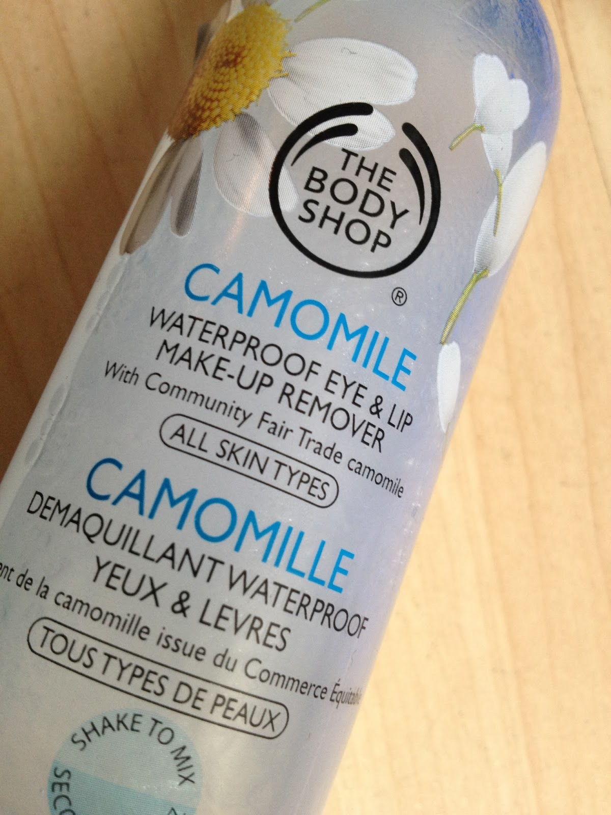 5 Minute Review Friday - The Body Shop Camomile Waterproof Eye and Lip Make Up Remover