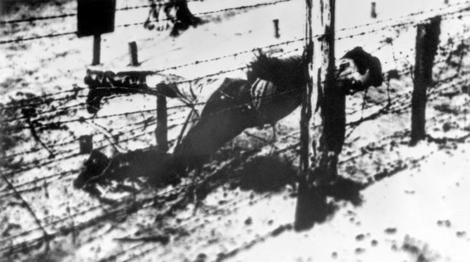 Yakov Dzhugashvili shot dead by the camp guard.