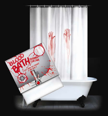 Cortina de baño del terror