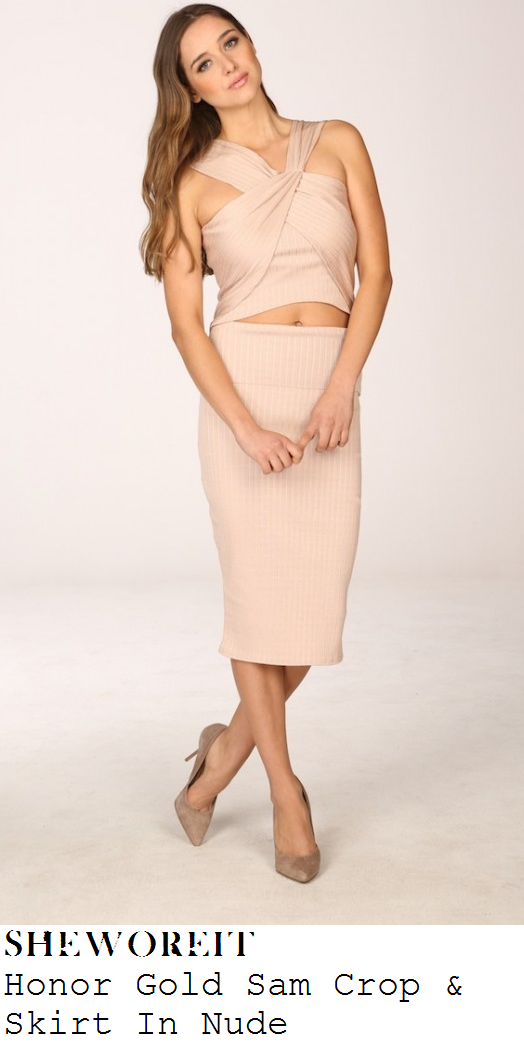 jessica-wright-nude-pink-sleeveless-halter-neck-crop-top-and-pencil-skirt-co-ords