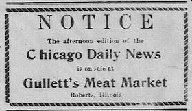 Gullett's Meat Market 1940 Ad