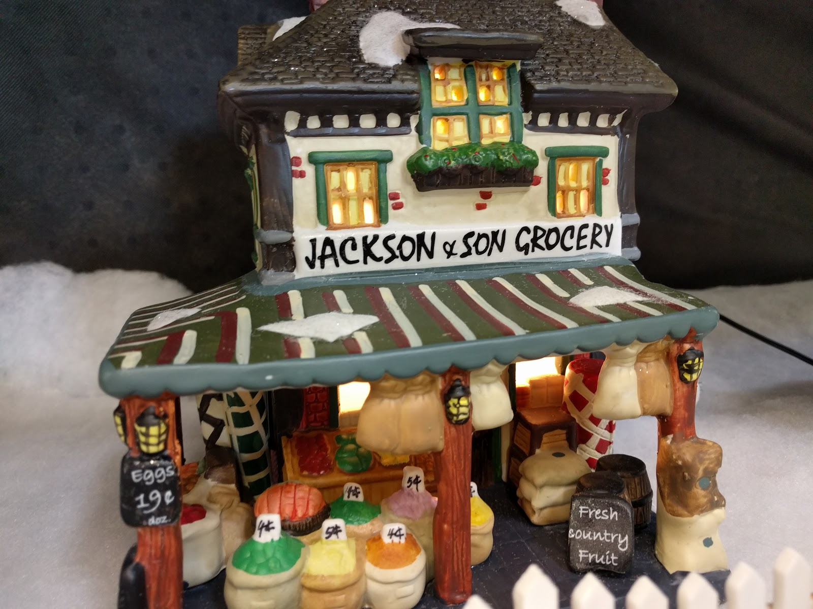 Jackson & Son Grocery - Lemax Christmas Village At Menards