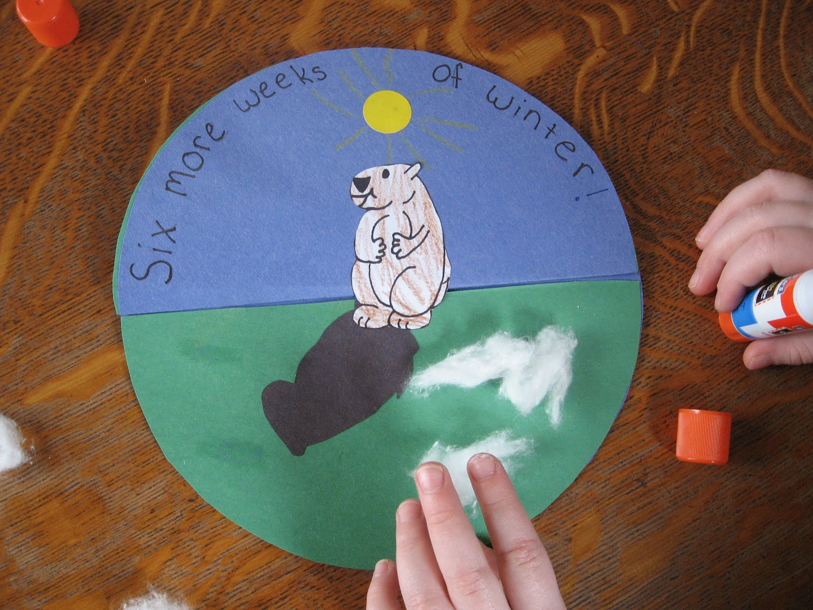 Almost unschoolers groundhog day craft for Groundhog day crafts for preschoolers