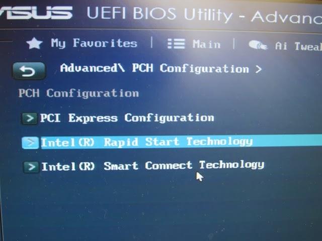 SSHD(ハイブリッドハードディスク)のUEFI-BIOSの設定