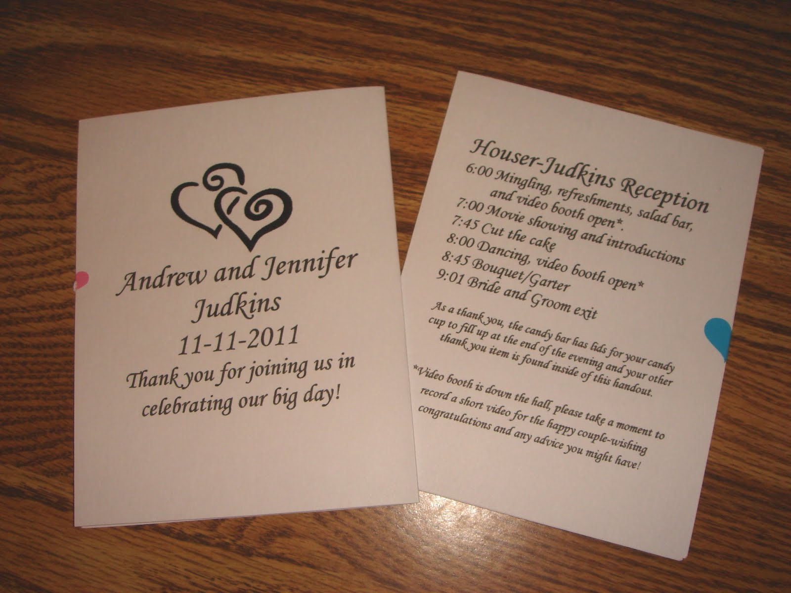 Rekami Recreations DIY WeddingReception Programs