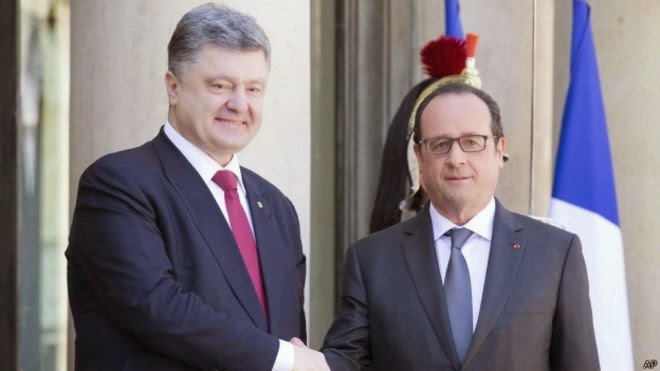 The meeting of the Presidents of France and Ukraine