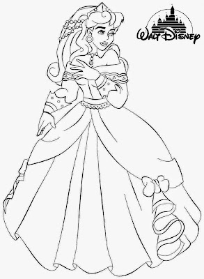 aurora princess coloring pages - photo#32