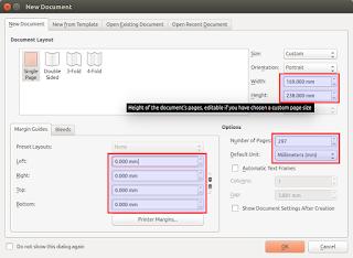 Scribus New document - screenshot