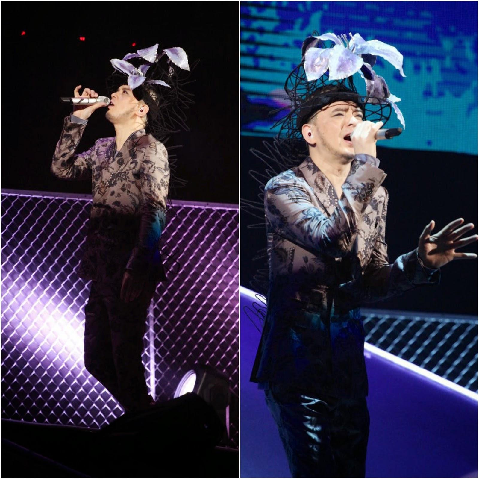 Anthony Wong Yiu-Ming [黃耀明] in Gucci, Concert 2014 Hong Kong 黃耀明 太平山下演唱會 2014 香港九龍紅磡暢運道9號 香港體育館 (紅館)