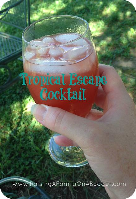 Tropical escape cocktail