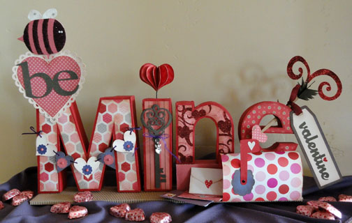 'Be MINE Valentine' 3d Letter Box Project
