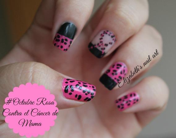 nail art leopardo rosa