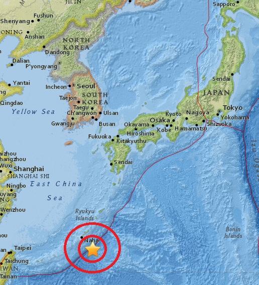 Magnitude 4.7 Earthquake of Itoman, Japan 2015-05-30