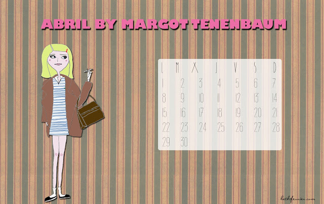 Calendario de Abril by Margot Tenenbaum