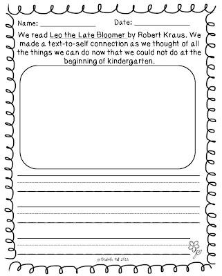 Leo the Late Bloomer...another freebie! - Kickin' It In Kindergarten