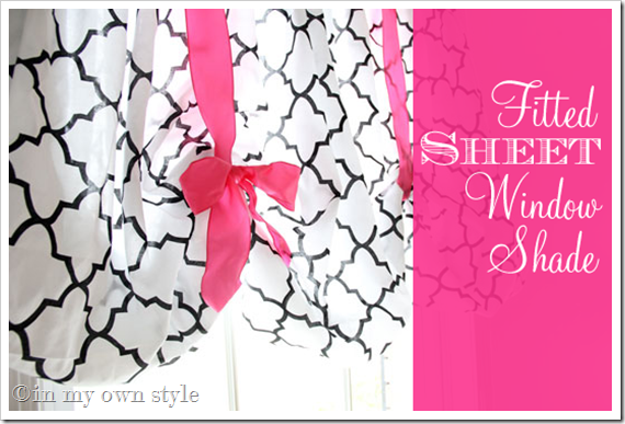 Adorable no sew window treatment using a fitted sheet how cute is
