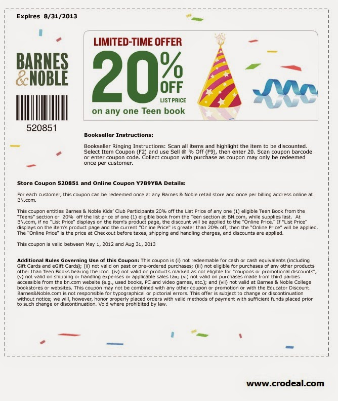 Barnes 7 noble printable coupons