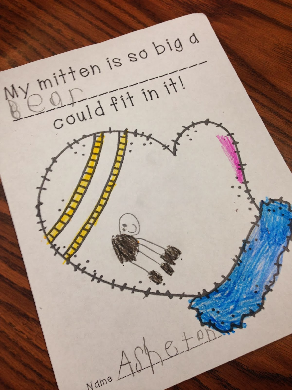 Students Created A Class Book By Choosing Any Animal They Wanted To Put In  Their Mitten