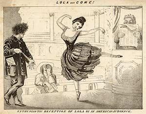 Como se puede apreciar, la danza no era una habilidad que Lola dominara