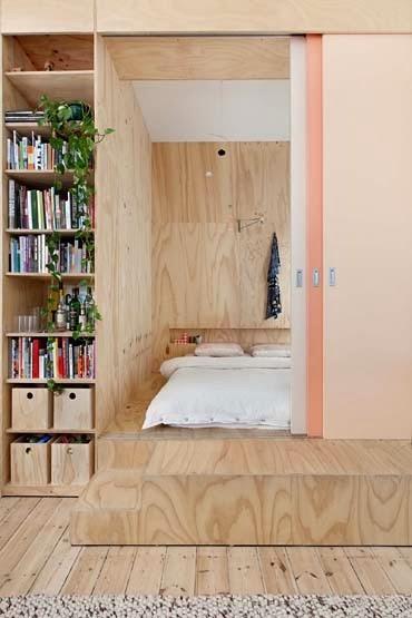 amenajari, interioare, decoratiuni, decor, design interior, apartament, amenajare cu placaj, dormitor inchis