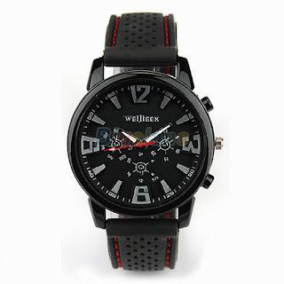 Men Military Army Pilot Aviator Rubber Band Outdoor Sports Wrist Watch B91U1