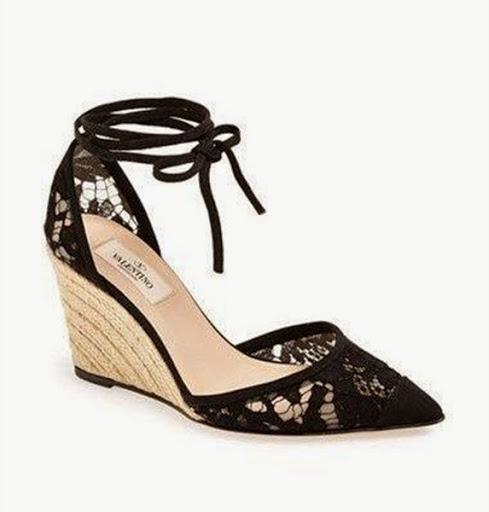 model sepatu dan sandal wedges tali wanita terbaru
