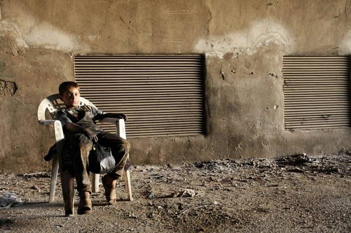 This is Issa. He is a 10-year-old Syrian boy.