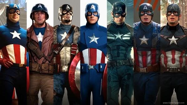 Evolusi Kostum Captain America