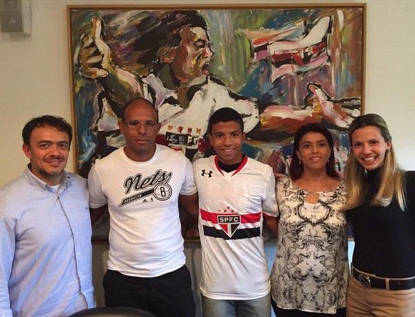 O meia Marquinhos Cipriano reforçará as categorias de base do São Paulo (Foto: Reprodução/Instagram)