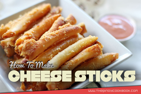 Pinoycookbook pulutan recipes how to make cheese sticks easily recipe tutorial forumfinder Images