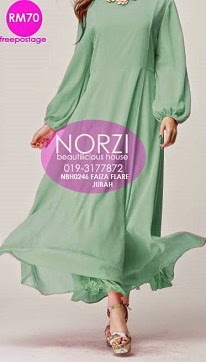 NBH0246 FAIZA FLARE JUBAH DRESS