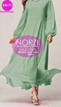 NBH0246 FAIZA FLARE JUBAH DRESS