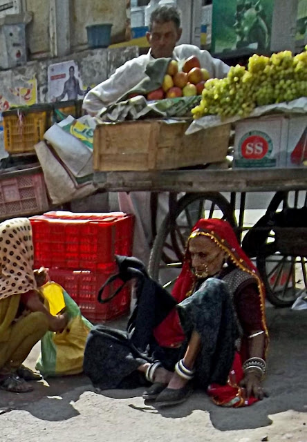 elderly rajasthani woman