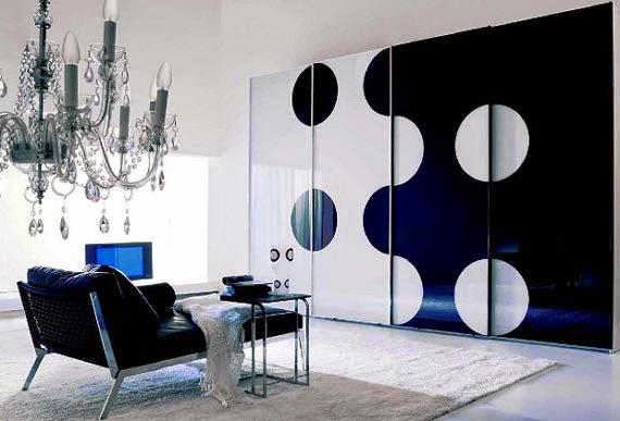 Salas modernas color blanco y negro - Ideas de salas con estilo