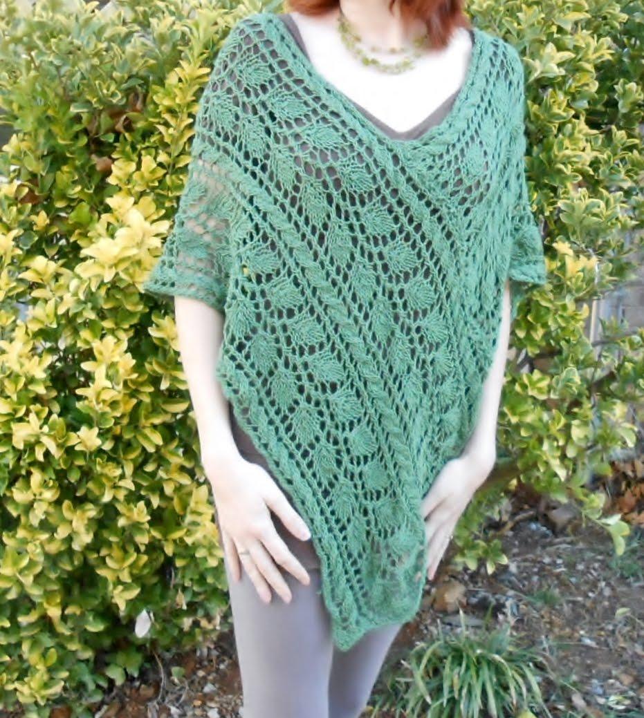 Leafy Greenery Lace poncho
