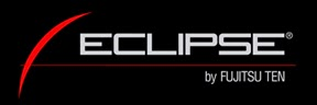 Logo of Eclipse by Fujitsu Ten in black background