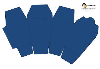 """Caja tipo """"para comida china"""". Azul"""