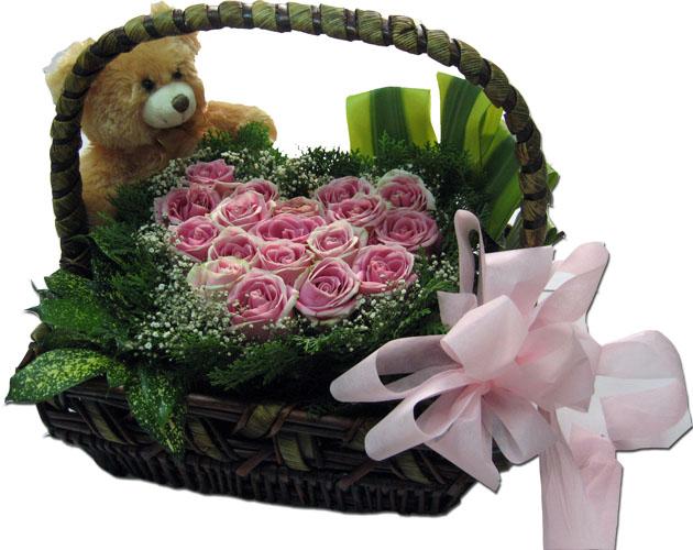 Baby Gift Baskets Hobart : Basket flower arrangements