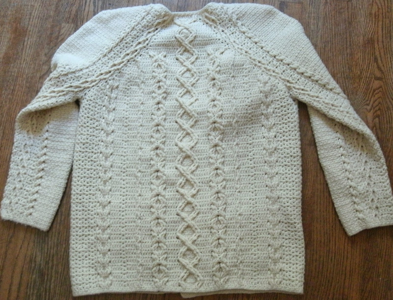Then I Started Working Out The Specifics Of Topdown Construction And Threw  In Cables This One Has Increase Lines In The Regular Raglan Positions,