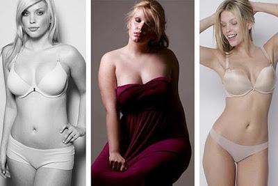 plus-size model Leah Kelley lost four sizes
